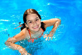 Pool flicka — Stockfoto