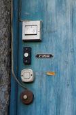 Oude deur klokken — Stockfoto
