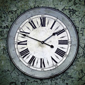 Grungy Clock — Stock Photo