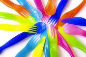 Plastic Cutlery — Stock Photo