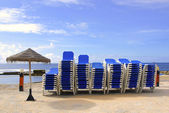 Blue Deckchairs — Stock Photo