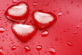 Heart shape ice — Stock Photo