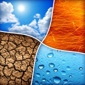 Four elements — Stock Photo