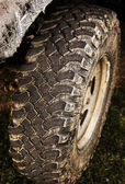 4wd tire — Stock Photo