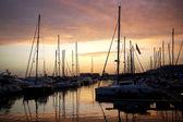 Docked Yachts — Stock Photo