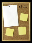 Paper Sheet on Corkboard — Stock Photo