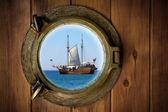 Olho de boi de bronze — Fotografia Stock