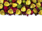 Potpourri Border — Stock Photo