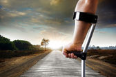 Long Limping — Stock Photo