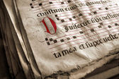 Medieval Choir Book — Stockfoto