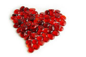 Glass gems heart — Stock Photo