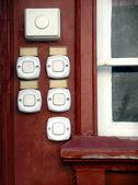 Beyaz kapı zilleri — Stok fotoğraf