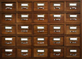 Tagged drawers — Stock Photo