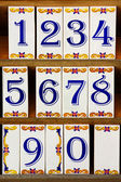 Number Tiles — Stock Photo