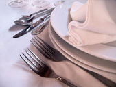 Dinnerware Detail — Stock Photo