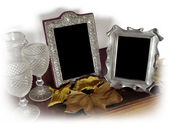 Two Vintage Photo Frames — Stock Photo