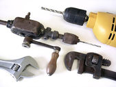 Drills and Wrenches — Stock Photo