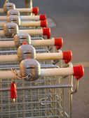 Supermarket Karts — Stock Photo