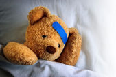 Sick Teddy — Foto de Stock