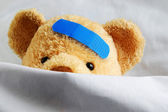 Teddy in Bed — Stock Photo