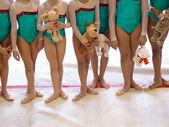 Gymnastics Team — Stock Photo