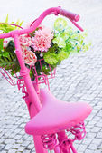 Pink bicycle — Stock Photo