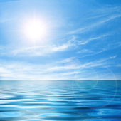 Calma il paesaggio marino — Foto Stock