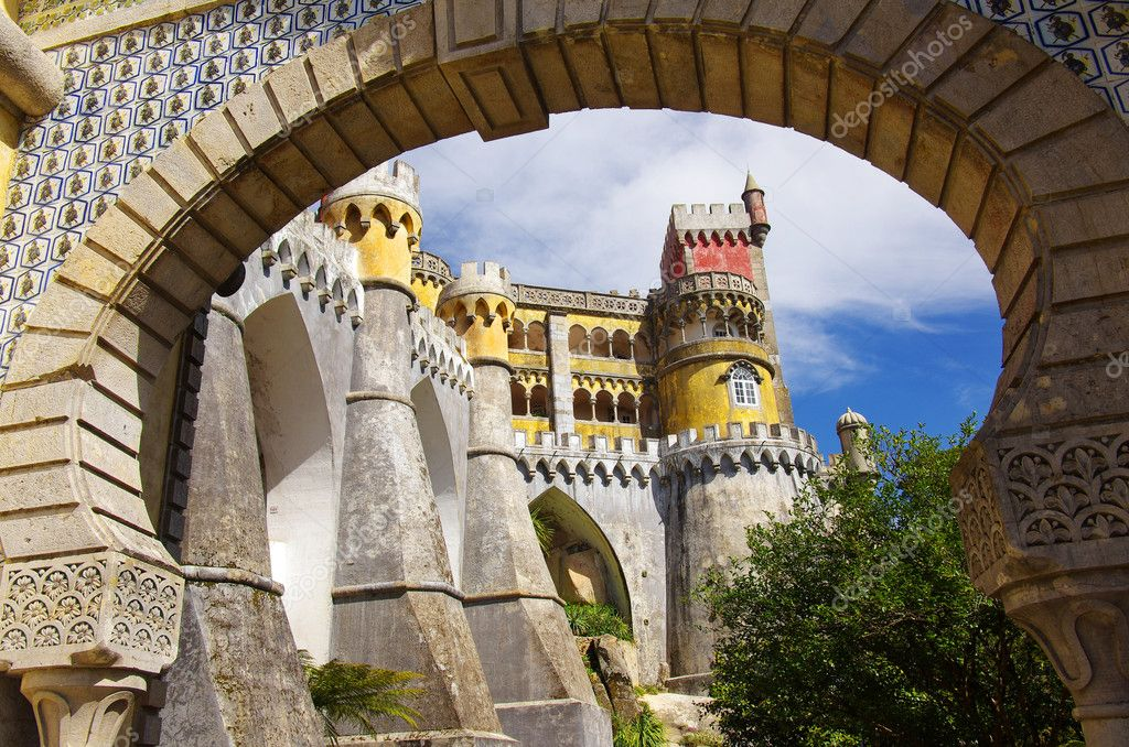 View of the Pena Palace in Sintra National Park, Portugal — Stock Photo #5873739