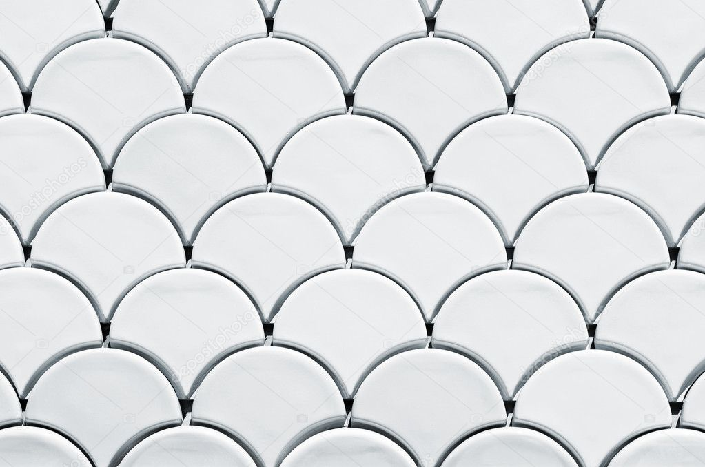 Architecture detail of a pattern of white scales — Stock Photo #5873779