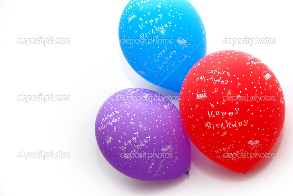 Colorful air baloons in an anniversary party — Stock Photo #5873984