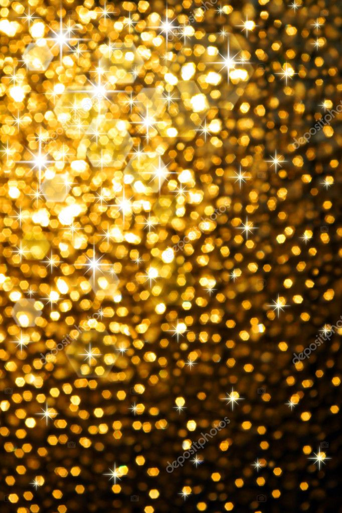 Abstract golden background of sparkling christmas lights — Stockfoto #5875103