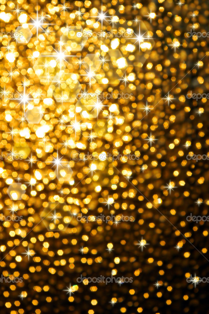 Abstract golden background of sparkling christmas lights — Photo #5875103