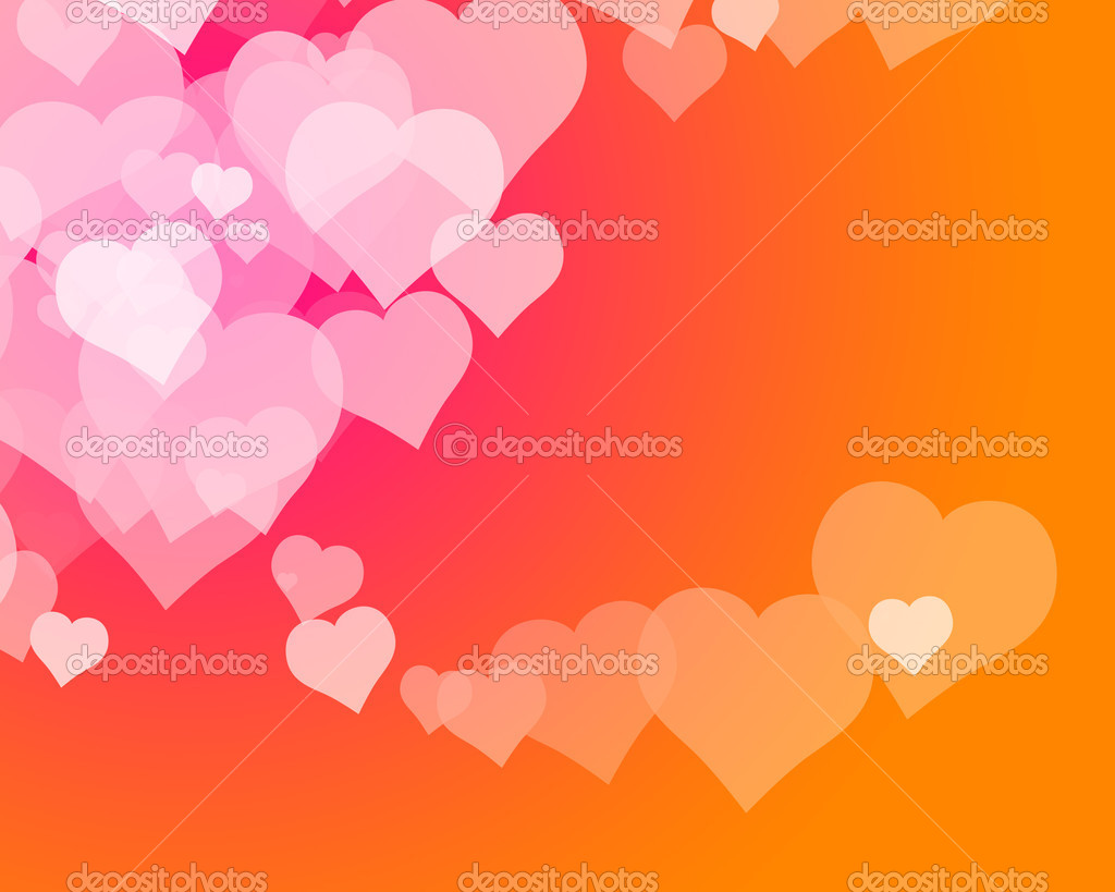 Illustration of several hearts forming colorful patterns — Stock Photo #5875378