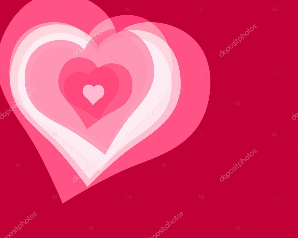Illustration of several hearts forming colorful patterns — Stock Photo #5875379