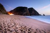 Beach at evening — Stock Photo