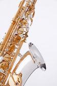 Saxophone Isolated On White — Stock Photo