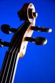 Défilement de violon isolé sur bleu — Photo