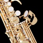 Soprano Saxophone Isolated on Black — Stock Photo