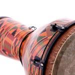 African Latin Djembe Conga Drum Isolated on White — Stock Photo