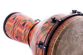 African Latin Djembe Conga Drum Isolated on White — Stock Photo