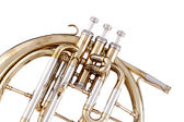 Peckhorn French Horn Isolated on White — Stock Photo