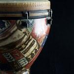 African Djembe Drum On Black — Stock Photo