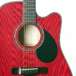 Stock Photo: Guitar Red Isolated on White