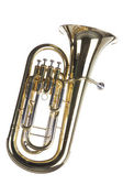 Tuba Euphonium Isolated on White — Stock Photo