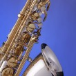 Stock Photo: Saxophone Alto Isolated on Blue