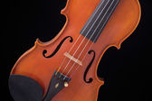 Violin Viola Isolated On Black — Stock Photo