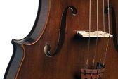 Antique violon alto, isolé sur blanc — Photo