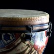 African Djembe Drum Isolated  on Black - Stock Photo