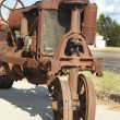 Stock Photo: Antique Corroded Rusty Tractor