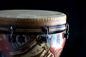 ジャンベ アフリカン ドラムに分離黒 — ストック写真